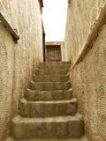 Mud steps at Thiksay Monastery Stock Photo