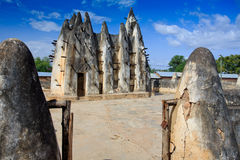 Mud and stick mosque. In Nakori, Ghana Stock Images