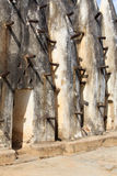 Mud and stick mosque wall. In Nakori, Ghana Royalty Free Stock Photography
