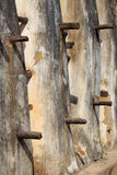 Mud and stick mosque wall closeup 1. Mud and stick mosque wall closeup, in Nakori, Ghana Royalty Free Stock Photography