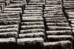 Mud And Straw Adobe Bricks Drying Peru South America Stock Photography