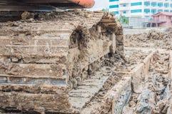 Mud stuck wheels, heavy-duty construction. Royalty Free Stock Photos