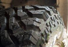 Mud terrain tire. Four wheel Drive Mud terrain tire royalty free stock images