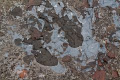 Mud texture or wet black soil as natural organic clay and geological sediment mixture as in roughing it in a dirty muddy country r Stock Photography