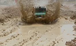 adventure in harsh terrain Royalty Free Stock Photo