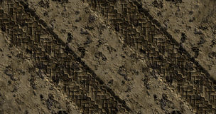 Mud Tracks. Left by a Truck or Car Royalty Free Stock Photos