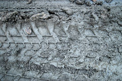 Mud tracks. Various tire tracks in mud Royalty Free Stock Photos