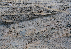 Mud Tracks Detail Royalty Free Stock Photos
