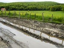 Mud tracks Stock Images