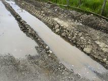 Mud tracks Royalty Free Stock Image