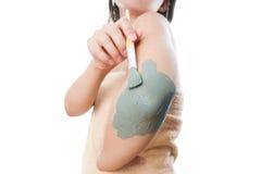 Mud treatment mask Royalty Free Stock Image