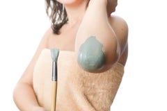 Mud treatment mask Stock Photography