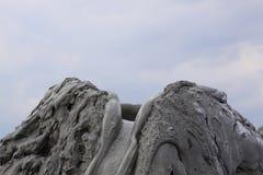 Mud volcano. Cone in Romania stock photo