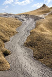 Mud volcano Royalty Free Stock Image