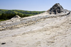 Mud volcano. The Berca Mud Volcanoes are a geological and botanical reservation located in the Berca commune in the Buzău County in Romania. Its most Stock Photography