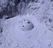 Mud volcano. Picture taken of a bubbling mud volcano at the Sol de Manana Bolivia on the Altiplano Royalty Free Stock Photos