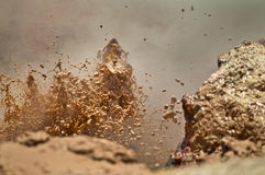 Mud Volcano. Close-up shot of a erupting mud volcano in yellowstone royalty free stock photo