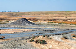 Mud volcano Stock Image