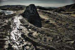 Mud volcano. Berca Mud Volcanoes - natural reservation Buzau, Romania Royalty Free Stock Images