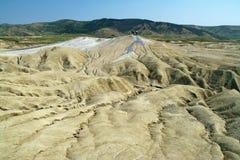 Mud volcano. Plateau of mud volcano in Romania stock photography