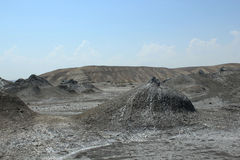 Mud volcano in Azerbaijan Stock Photo