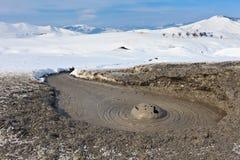 Mud Volcano In Buzau, Romania Stock Photos
