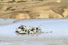 Mud volcano in Buzau, Romania stock image
