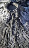 Mud volcano canyon. Small canyons made by mud volcanoes in Romania Royalty Free Stock Photography