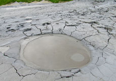 Mud volcano crater Royalty Free Stock Image