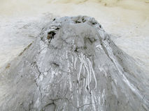 Mud volcano crater Royalty Free Stock Photography