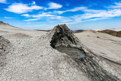 Mud volcano. Crater of mud volcano. Gobustan Royalty Free Stock Image