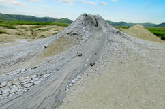 Mud volcano erupting with dirt Royalty Free Stock Image