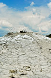 Mud volcano eruption Royalty Free Stock Images