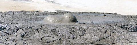 Mud volcano eruption Stock Photos