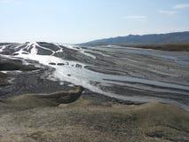 Mud volcano stock photo