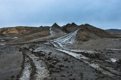 Mud Volcano at gobustan in Azerbaijan Royalty Free Stock Photography