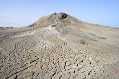 Mud volcano in Gobustan, Azerbaijan. View of a mud volcano in Gobustan, Azerbaijan royalty free stock photo