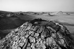 Mud volcano in Gobustan. National park , Azerbaijan royalty free stock photography
