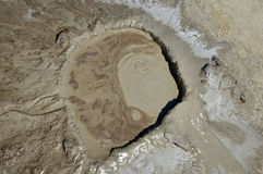 Mud volcano hole. A mud volcano hole, Buzau, Romania Royalty Free Stock Photos