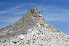 Mud volcano landscape royalty free stock photos