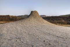 A mud volcano in the Salse di Nirano. Mud volcanoes and craters in Emilia Romagna, Italy. A mud volcano in the Natural Reserve Salse di Nirano. Mud volcanoes stock photography
