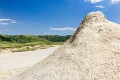 Mud Volcano. In Romania Stock Photos