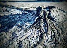 Mud volcano. In Romania, Buzau county Stock Photo