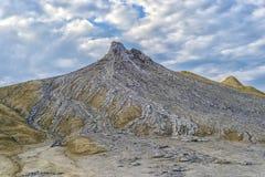 Mud volcano in Romania. Mud volcanoe in Buzau County, Romania Stock Images