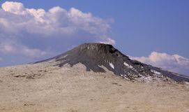 Mud volcano which erupted recently stock photo