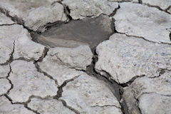 The mud volcanoes Stock Photo