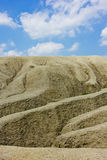 Mud volcanoes. Active mud volcanoes, buzau, romania Royalty Free Stock Photos