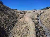 Mud Volcanoes -arid valley stock photos