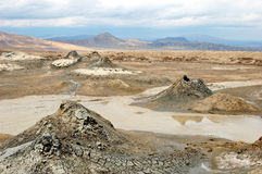Mud volcanoes of Azerbaijan. Royalty Free Stock Photography