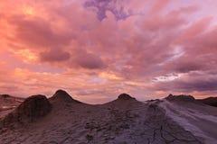 Mud Volcanoes in Buzau, Romania stock photography